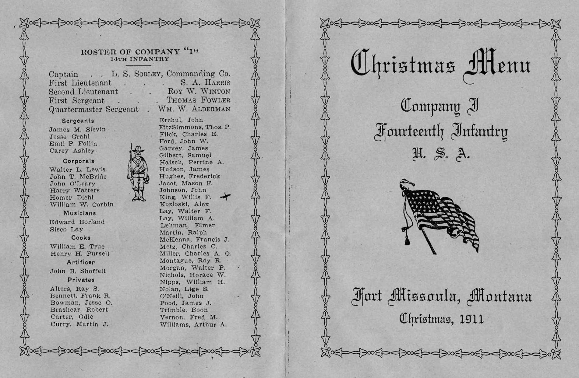 christmas 1911 menu 2