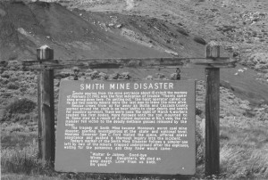 smith mine disaster sign